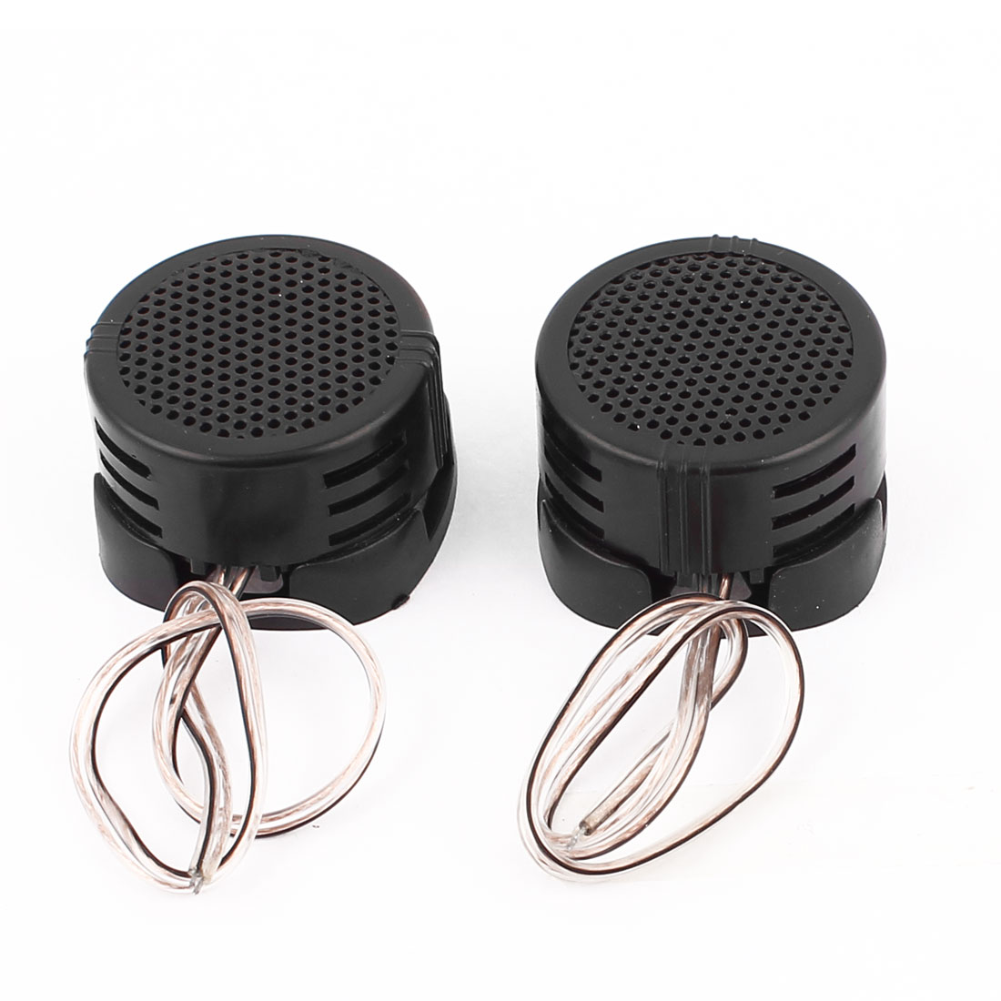 Plastic Shell Car Vehicle Audio Speaker System 500W 97dB Dome Tweeter Black 2pcs