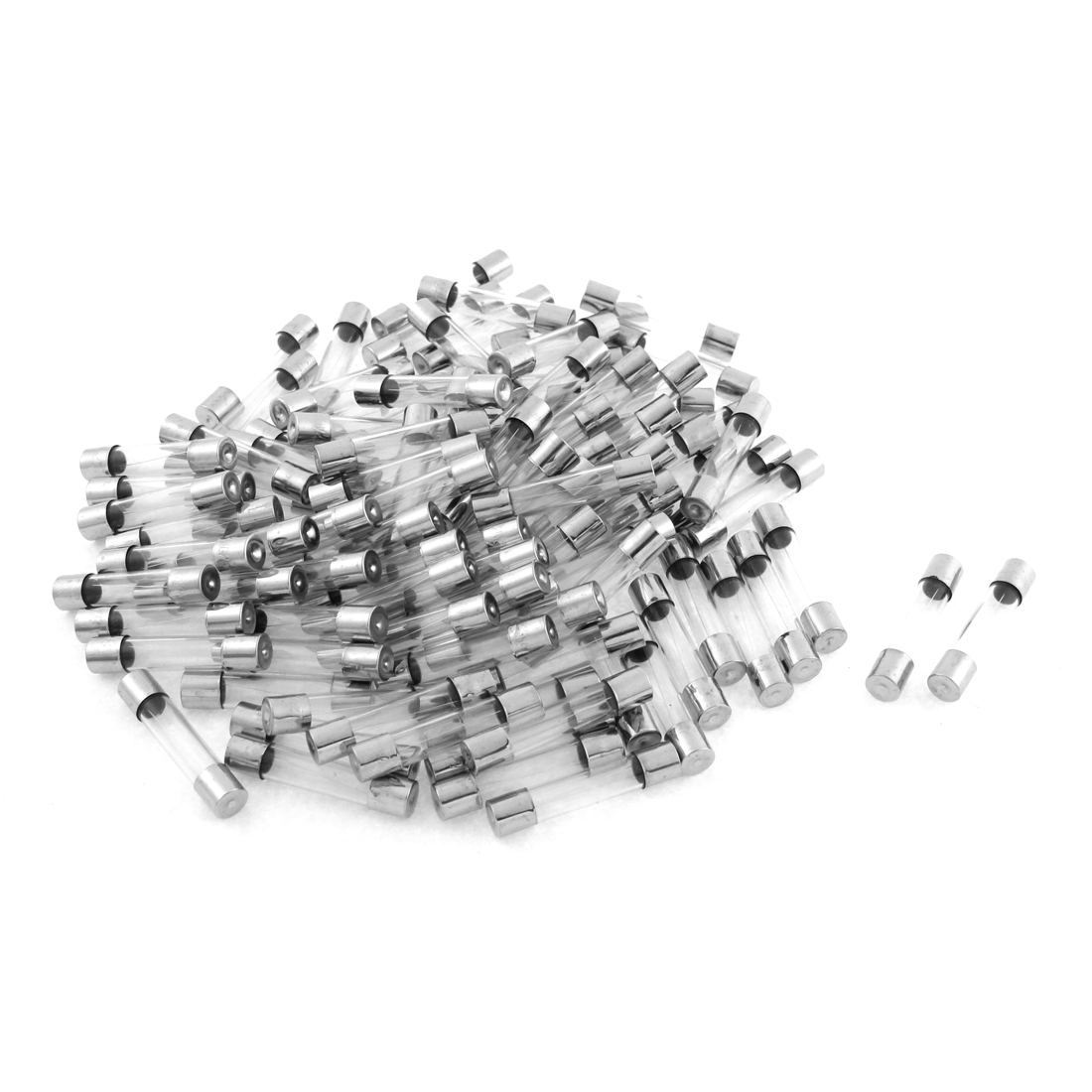 100pcs Practical Fast Blow Type Glass Tube Fuses 6x30mm 250V 2A