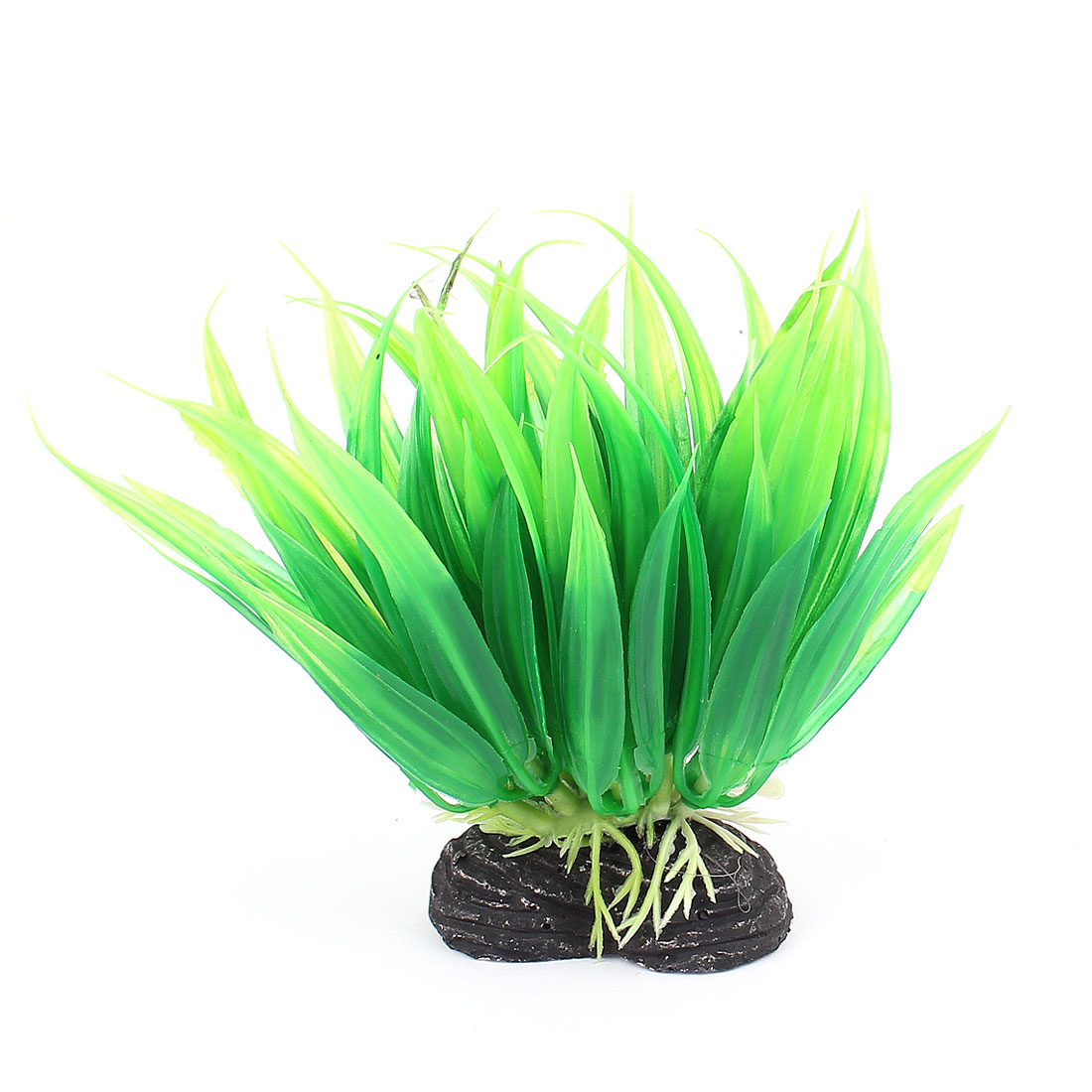 Green Plastic Artifical Aquarium Plant Underwater Grass Decor for Fish Tank Fishbowl