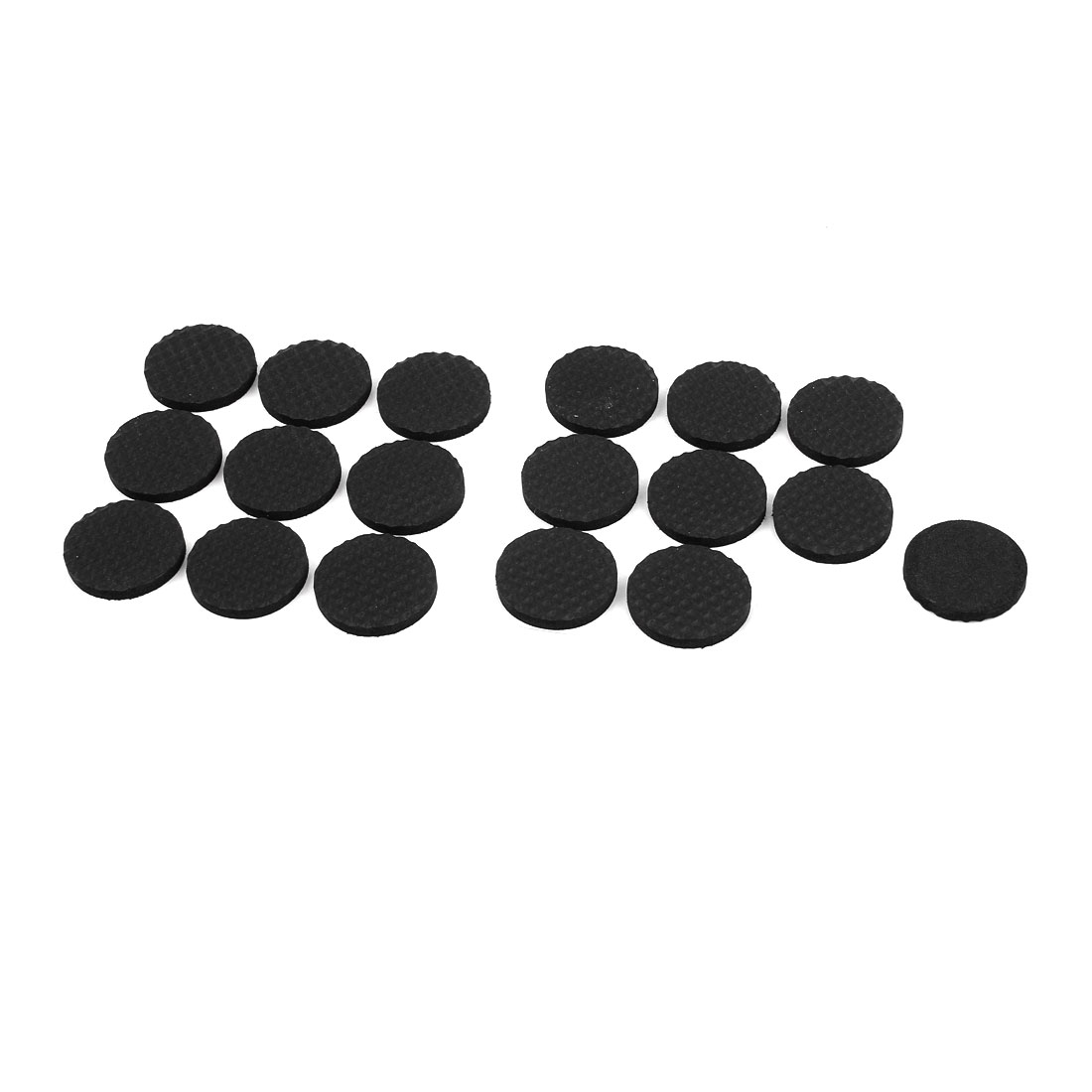 18pcs Black Round Shaped Adhesive Base Furniture Foot Cover Protection Mat Cushion Pad