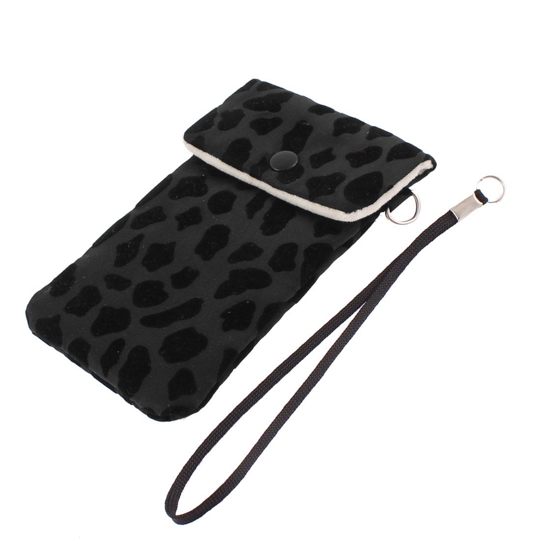 Outdoor Nylon Cell Phone Pouch Bag Mobile Case Holder Black