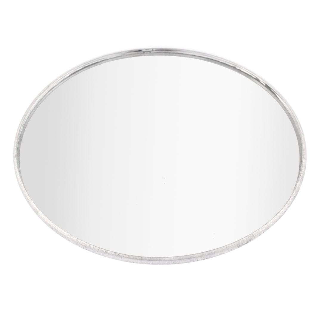 "Car 3"" Adhesive Round Shape Convex Rearview Blind Spot Mirror Silver Tone"