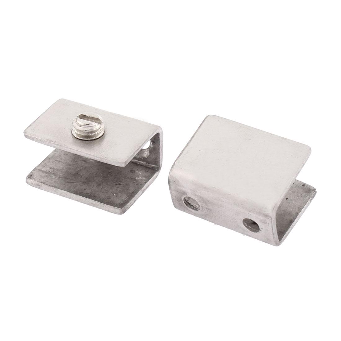 2pcs Rectangular-Shape Glass Shelf Panel Clamp Clip Bracket Holder