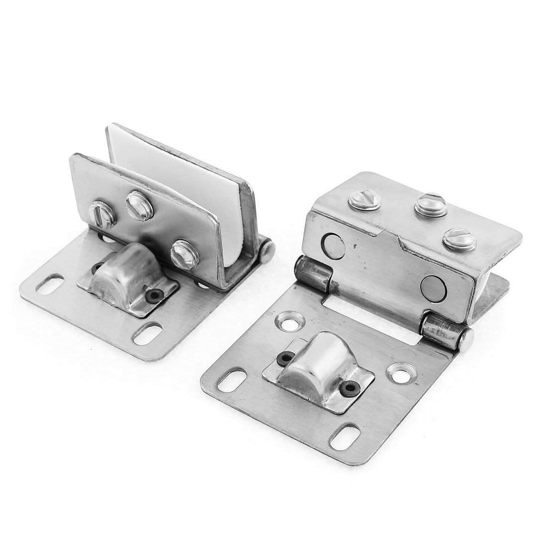 Bathroom Glass Door Adjustable Clamp Clips Hinge 10mm 2pcs