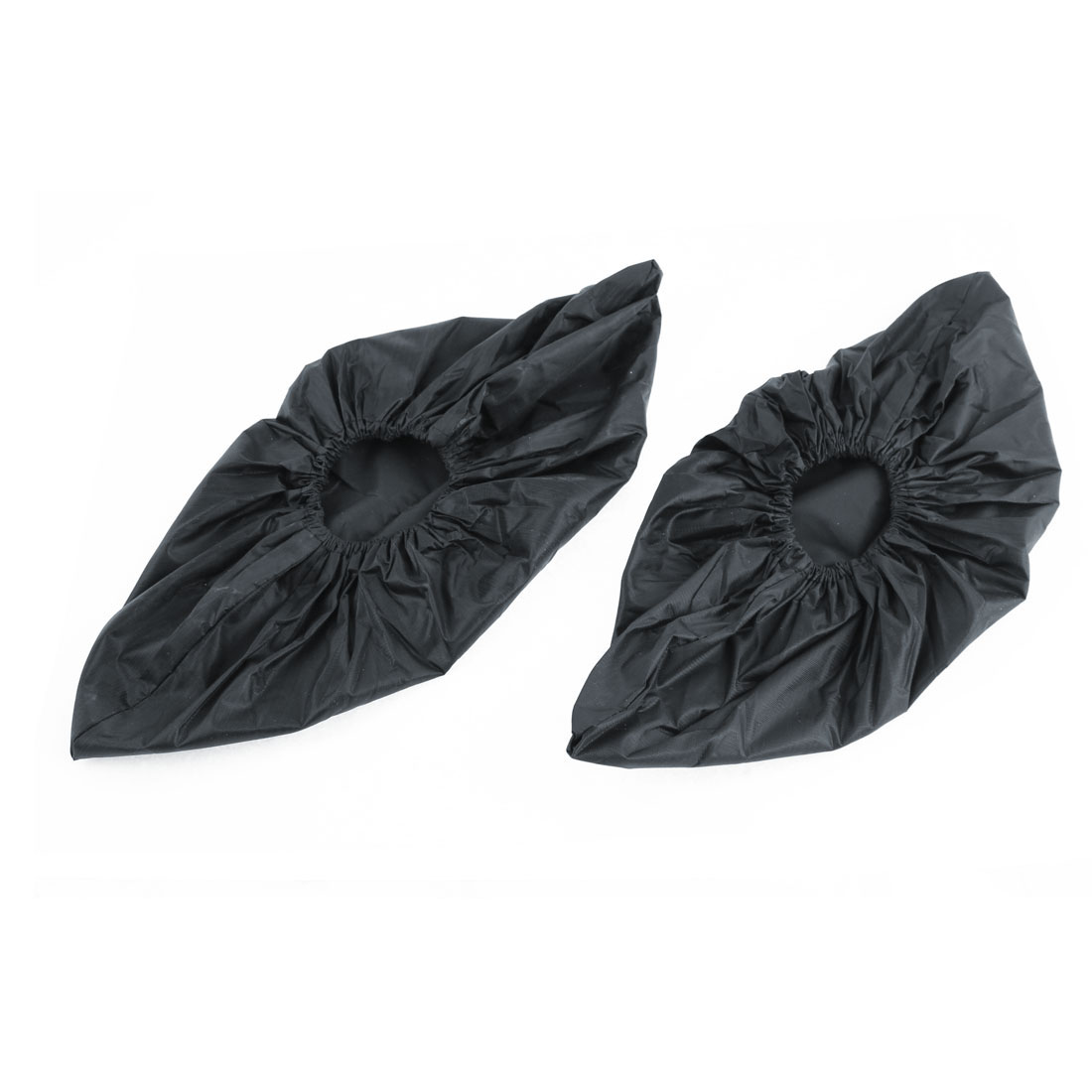 Outdoor Black Elastic Waterproof Non-slip Rain Shoes Covers Overshoes Pair