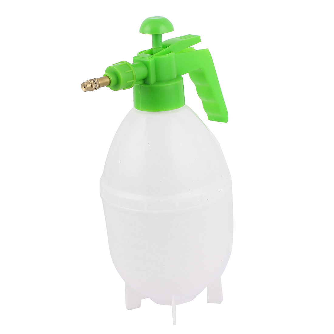 Green White Plastic Plant Watering Water Pressure Sprayer Spray Bottle Garden Tool 1500Ml