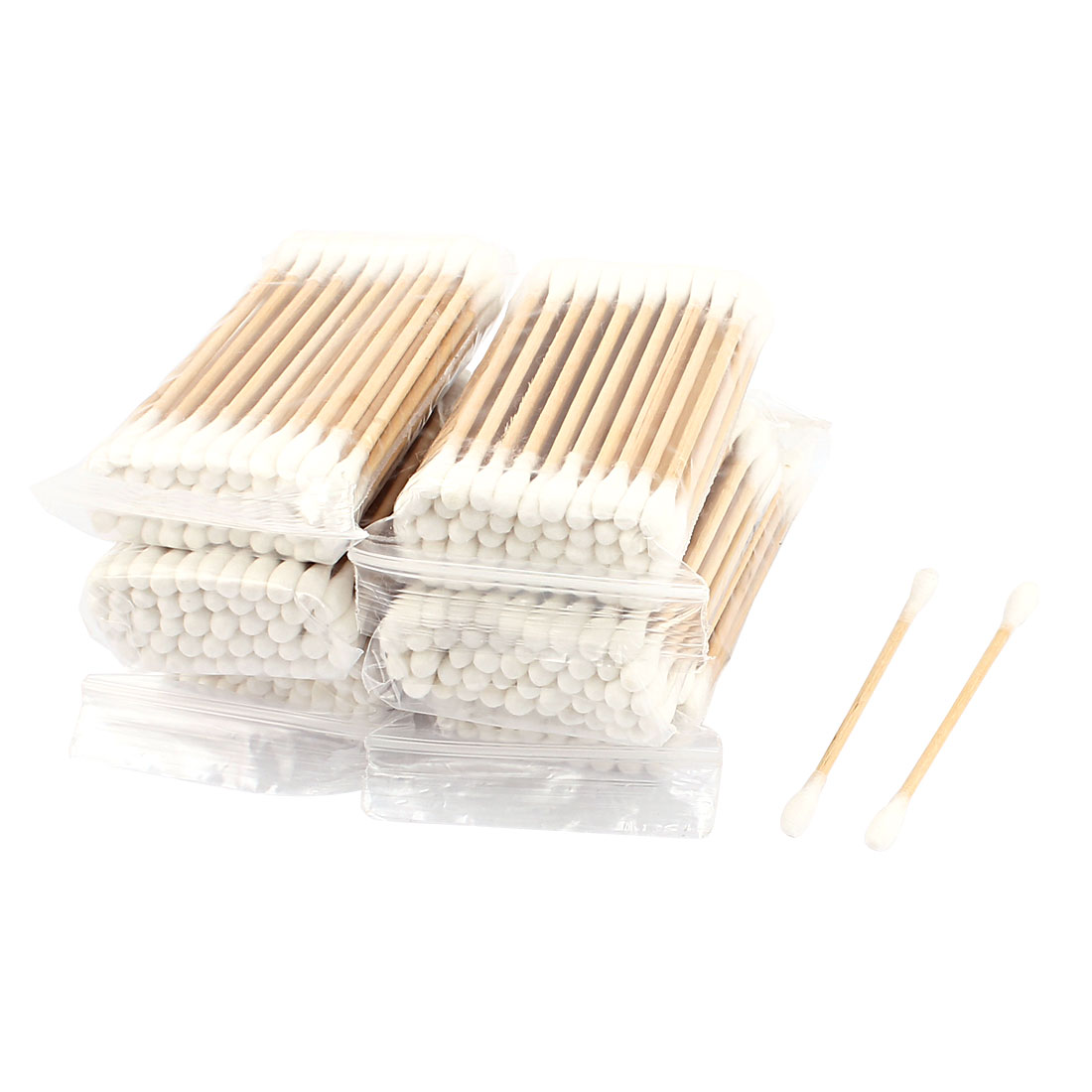 Wood Rod Cotton Swab Double End Ear Picks Cosmetics Earwax Removing Tool 1200pcs