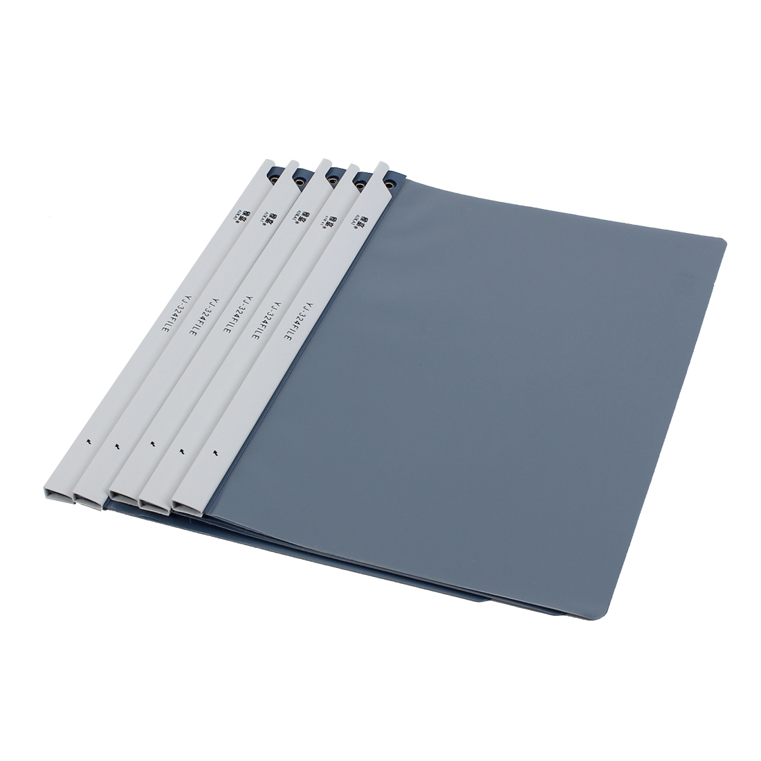 Office School A4 Paper File Document Case Conference Folder Organizer Blue Clear 5pcs