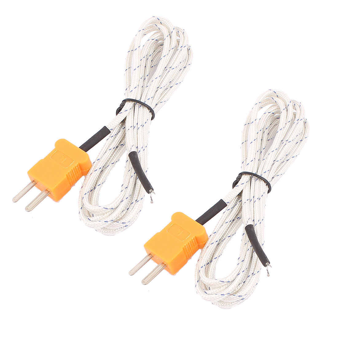 2 Pcs 2 Meter K Type Thermocouple Probe Digital Temperature Sensor for Multimeter