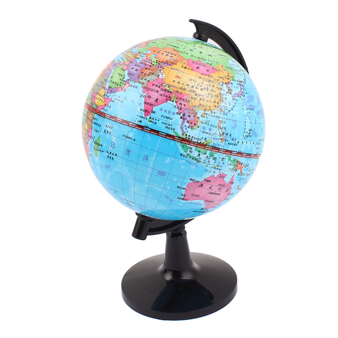 "World Map Globe Toy Foam Earth Ball Geography Educational 4.2"" Dia"