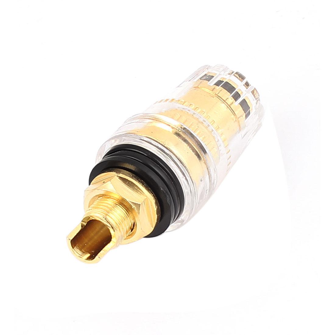 Binding Post for Amplifier Speaker 4mm Banana Socket Connector Black Gold Tone