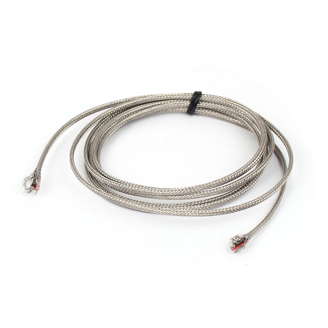6.6Ft Silver Tone Metal K Type Thermocouple Extension Wire