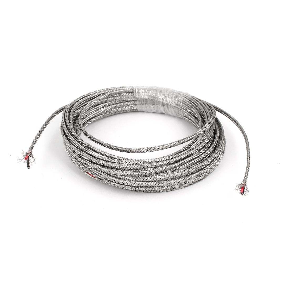 19.7Ft Silver Tone Metal K Type Thermocouple Extension Wire