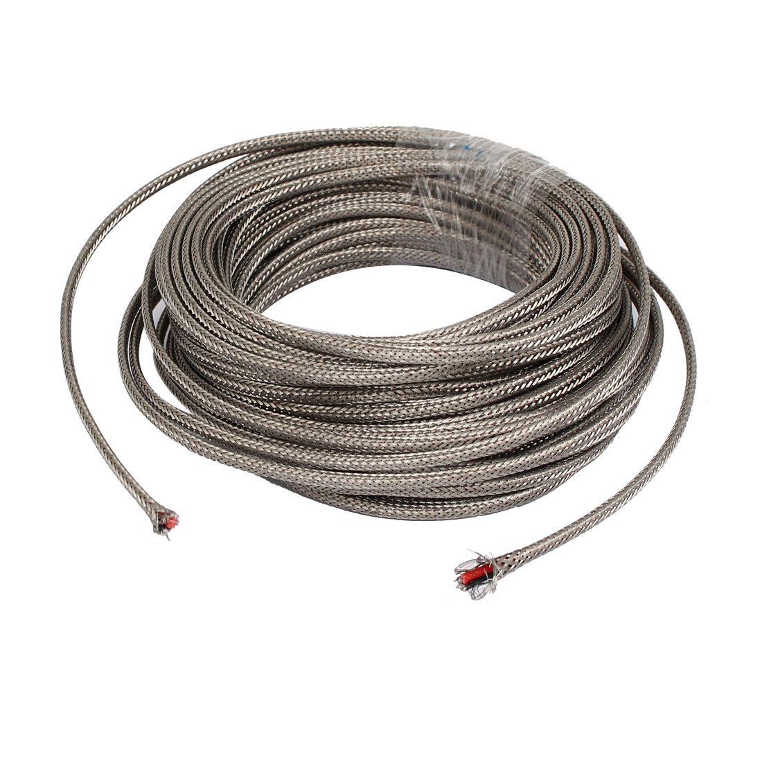 39.4Ft Silver Tone Metal K Type Thermocouple Extension Wire