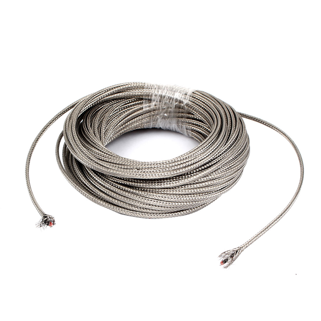 52.5Ft Silver Tone Metal K Type Thermocouple Extension Wire