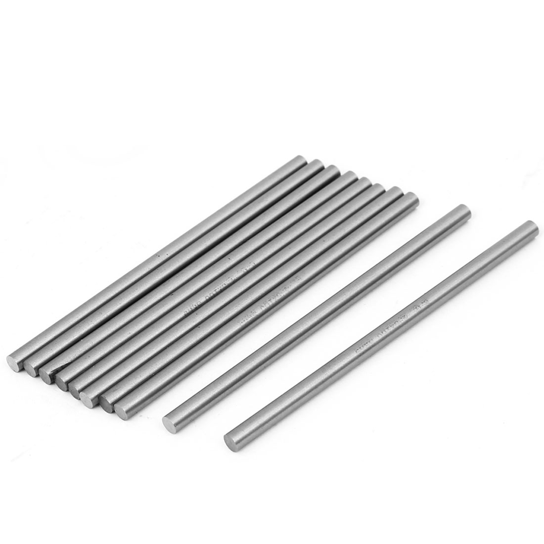 10pcs 4.5mm x 100mm HSS Round Rod Lathe Turning Tool Bar Silver Tone