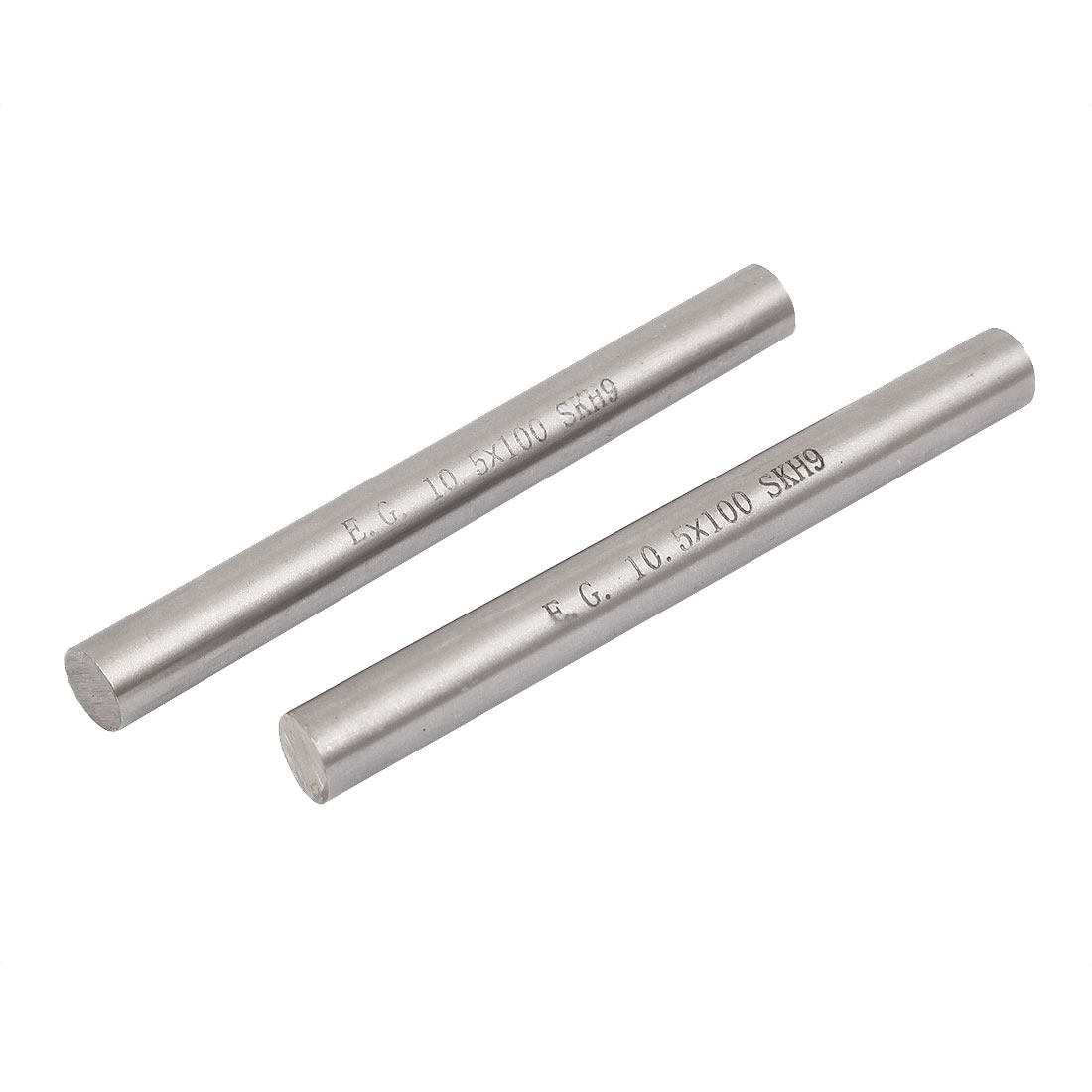 10.5mm x 100mm Metal Machine Turning Tools Rod Bar Lathe Round Stick 2pcs