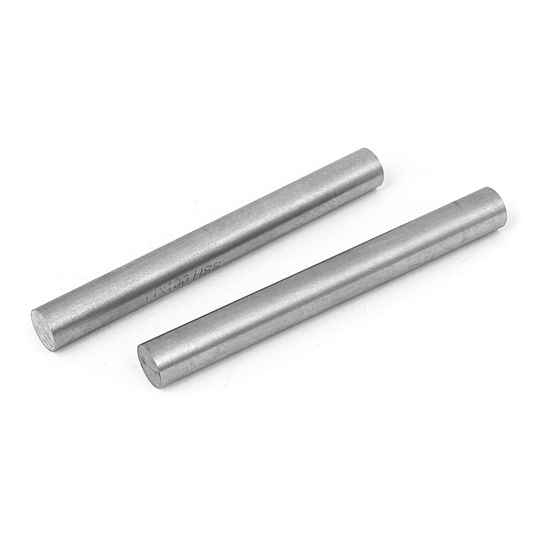 11mm x 100mm Metal Machine Turning Tools Rod Bar Lathe Round Stick 2pcs