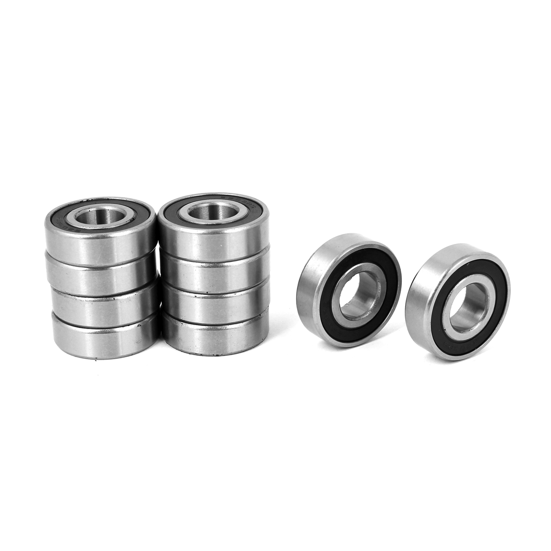 17mm x 40mm x 12mm Deep Groove Radial Ball Bearings 6203RS 10 Pcs
