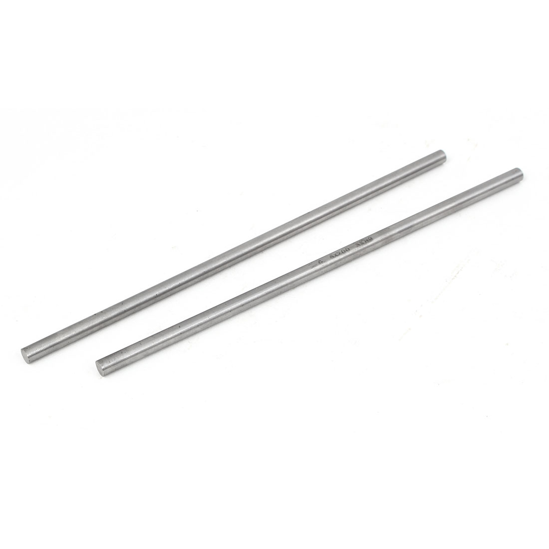 6mm x 200mm Metal Machine Turning Tools Rod Bar Lathe Round Stick 2pcs