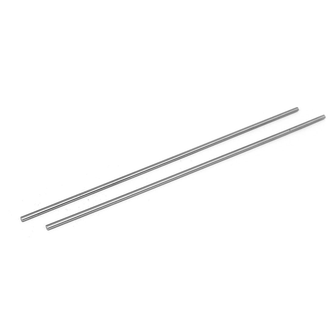 3mm x 200mm Metal Machine Turning Tools Rod Bar Lathe Round Stick 2pcs