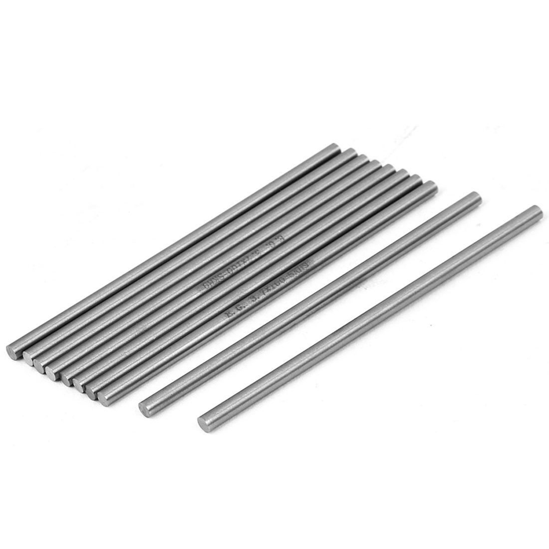 3.7mm x 100mm HSS Straight Machine Turning Tool Round Lathe Bar Rod Stick 10pcs