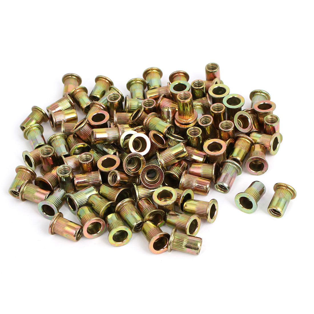 "1/4"" Thread 15mm Long Rivet Nut Insert Nutsert 100pcs"