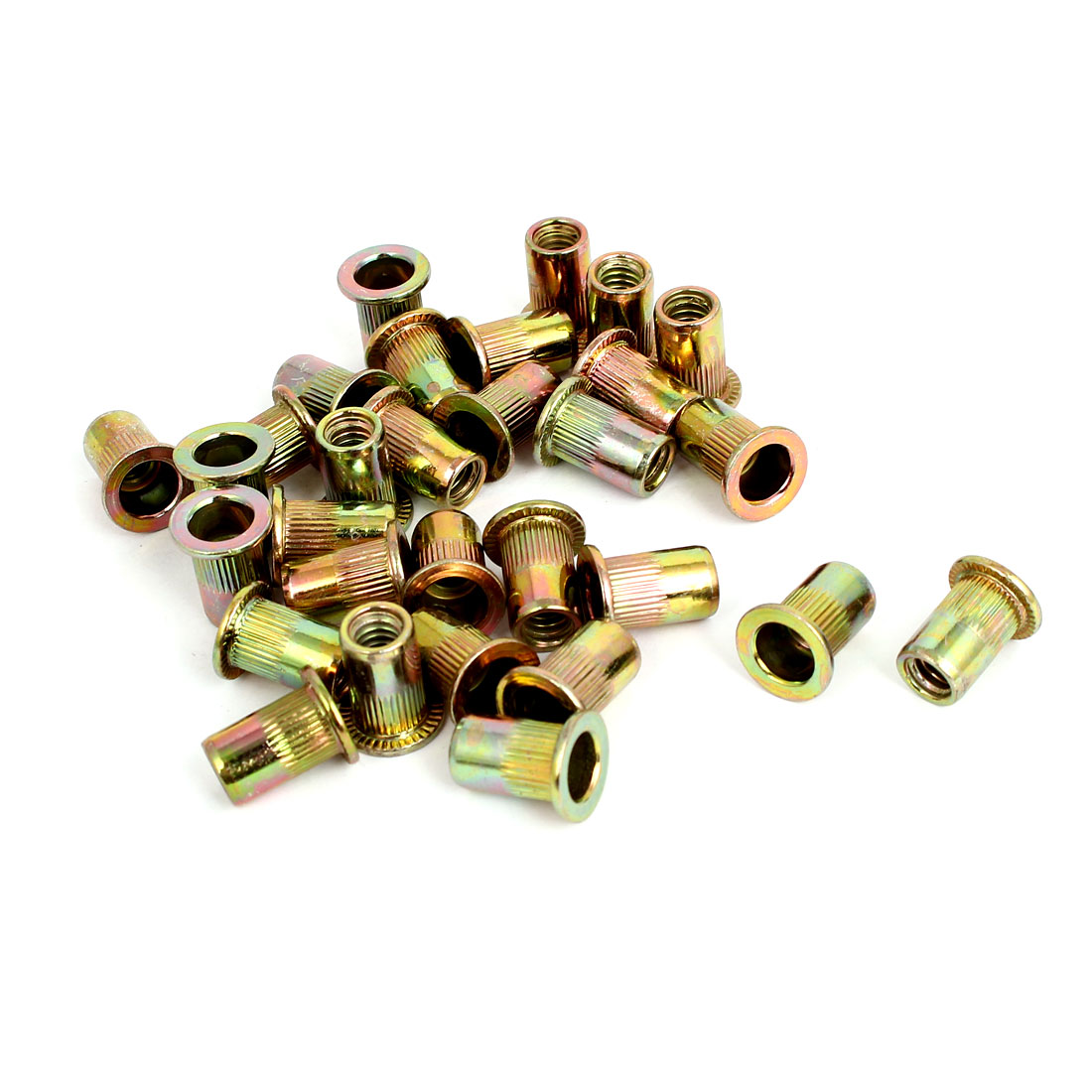 "1/4"" Thread 15mm Long Rivet Nut Insert Nutsert 30pcs"