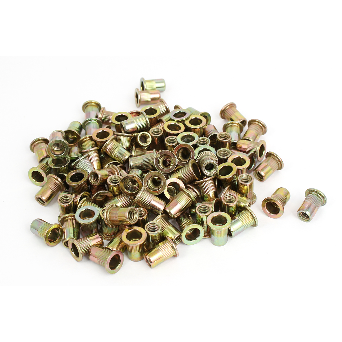 "1/4"" Thread 15mm Long Rivet Nut Insert Nutsert 150pcs"