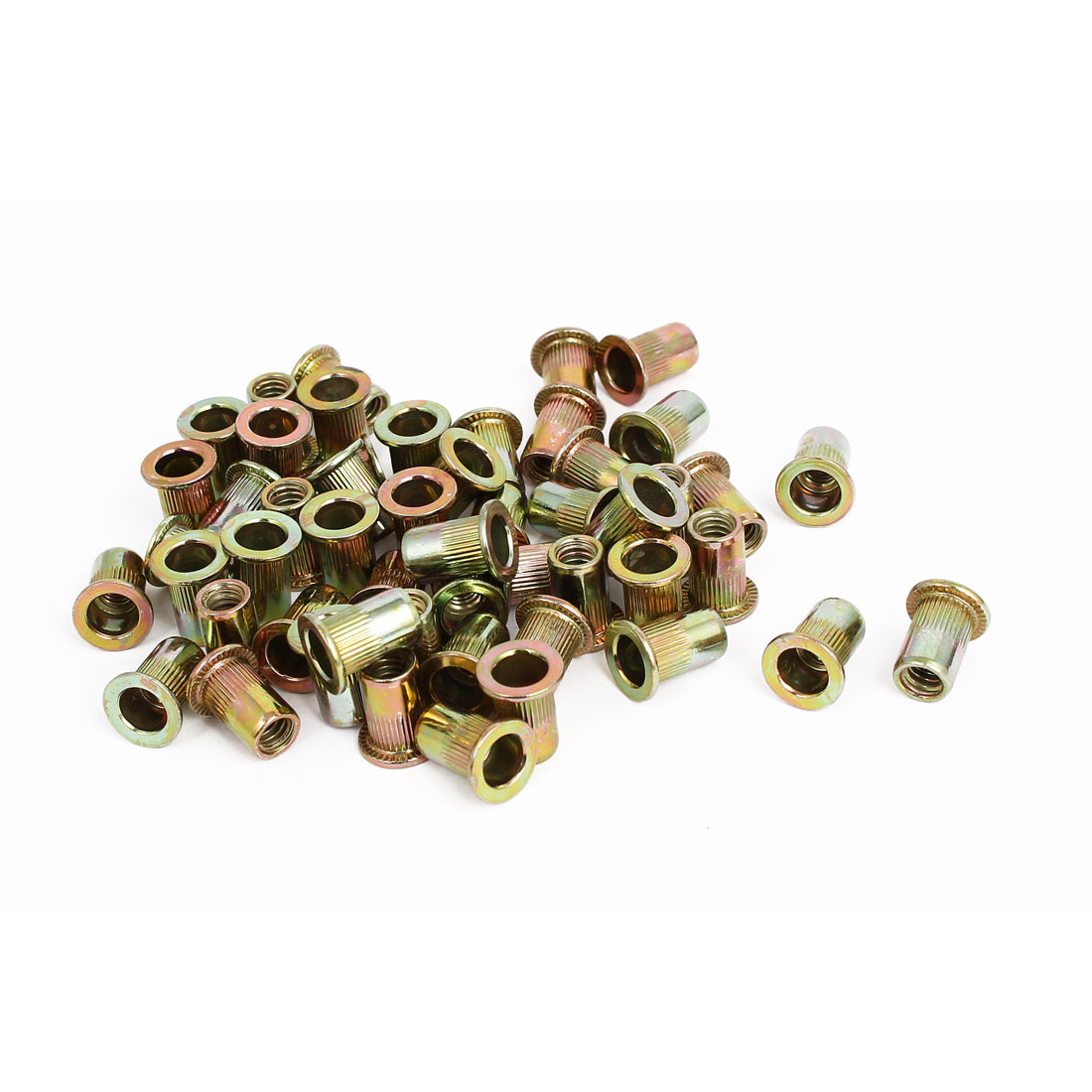 """1/4"""" Thread 15mm Long Rivet Nut Insert Nutsert 50pcs"""