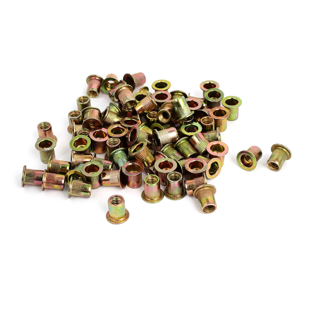 "1/4"" Thread 12mm Long Rivet Nut Insert Nutsert 100pcs"