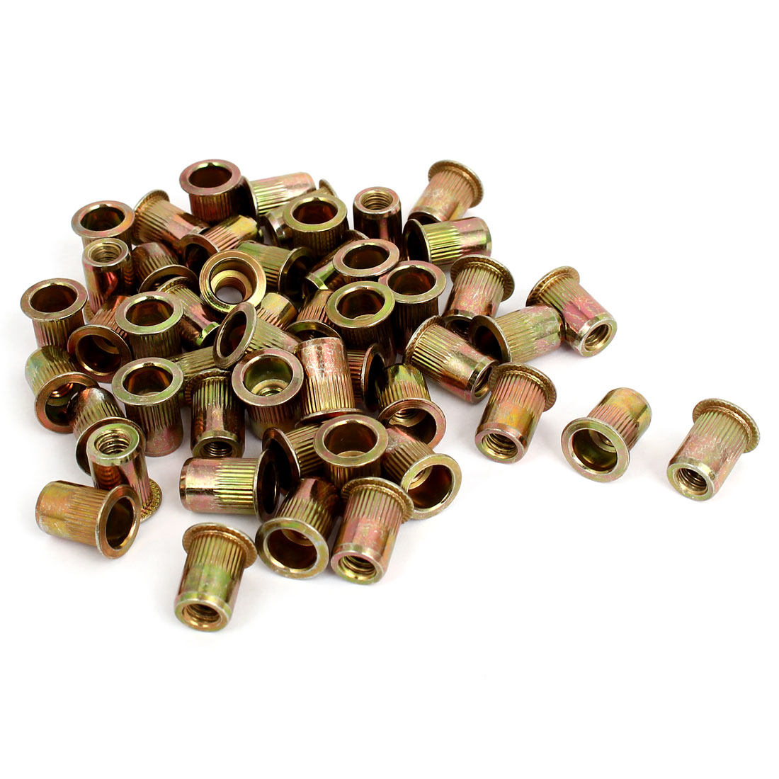 "1/4"" Thread 15mm Long Rivet Nut Insert Nutsert 50pcs"