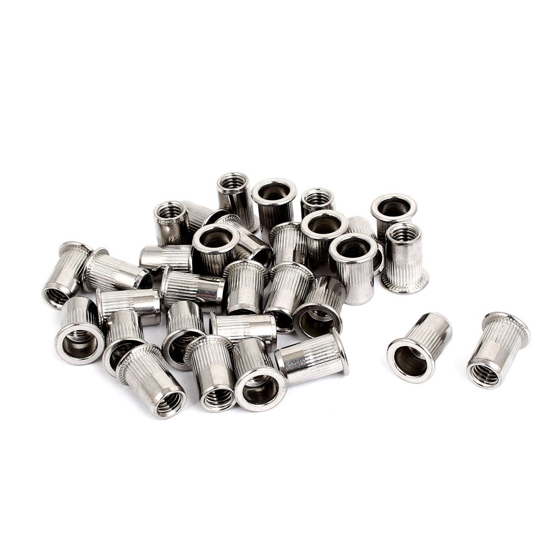 M8 Thread 304 Stainless Steel Rivet Nut Insert Nutsert 30pcs