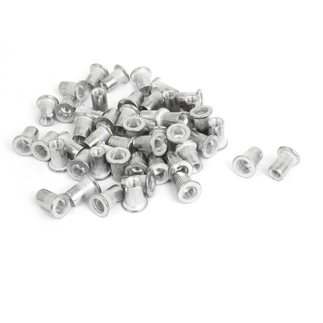 M6 Thread Aluminum Rivet Nut Insert Nutsert 50pcs