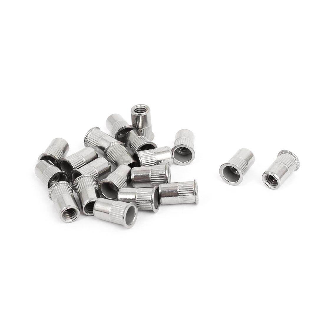 M4 Thread 304 Stainless Steel Rivet Nut Insert Nutsert 20pcs