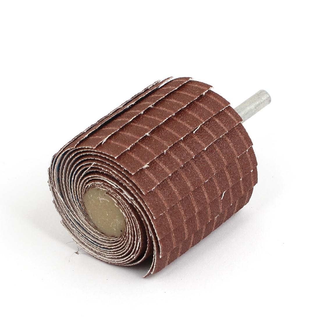 Emery Cloth Sandpaper Wire Abrasive Flap Wheel 120 Grit w Mandrel
