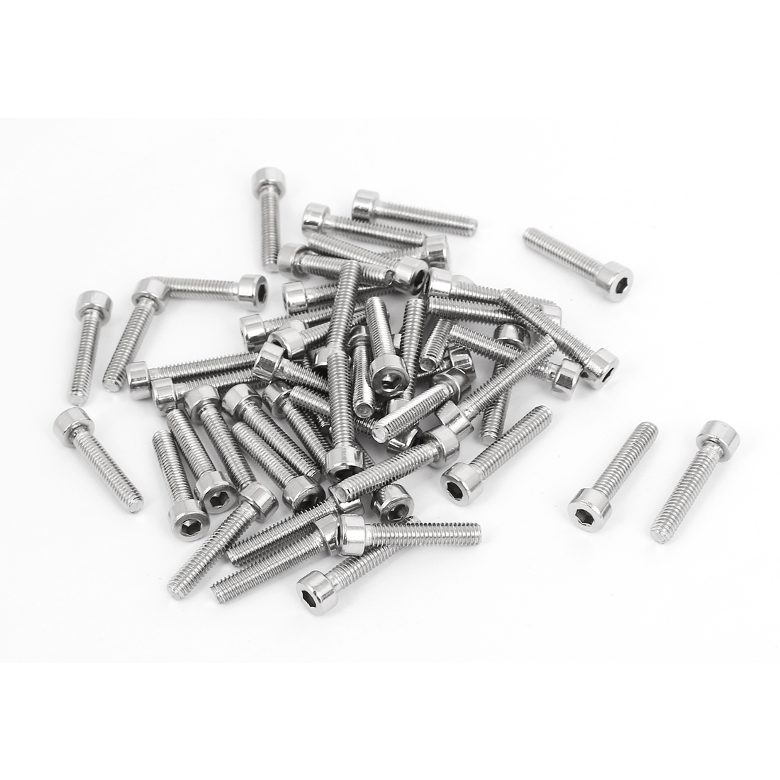 50pcs 3mm Stainless Steel Hex Key Socket Head Cap Screws Bolts M4x0.7mmx20mm