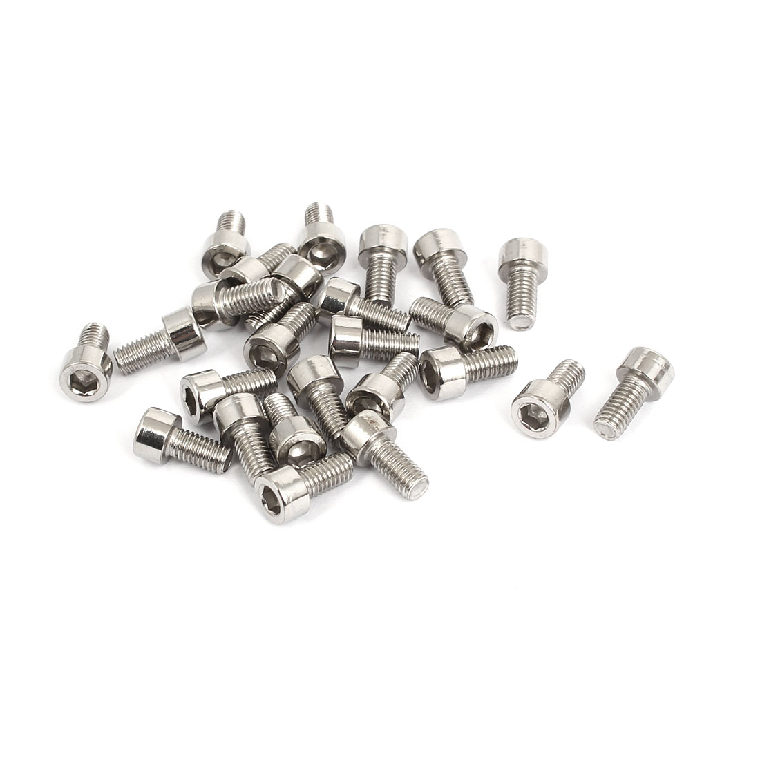 25pcs Stainless Steel Hex Key Socket Head Cap Screws Bolts M5x0.8mmx10mm