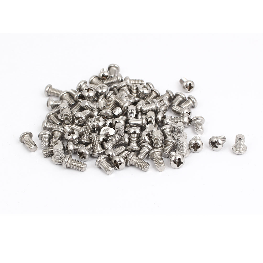 M4x6mm Stainless Steel Phillips Round Pan Head Machine Screws 100pcs