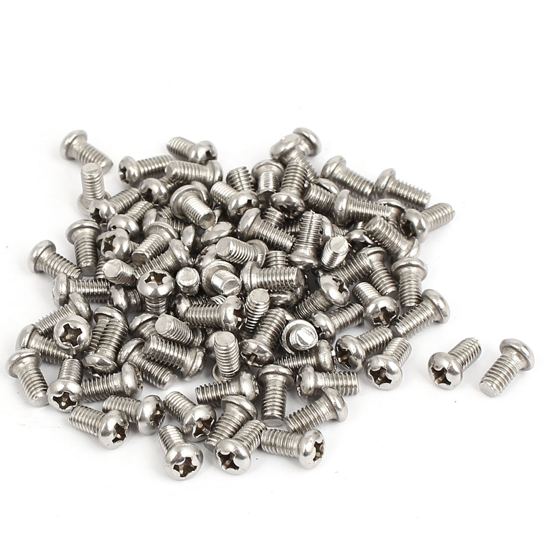 M4x8mm Stainless Steel Phillips Round Pan Head Machine Screws 100pcs