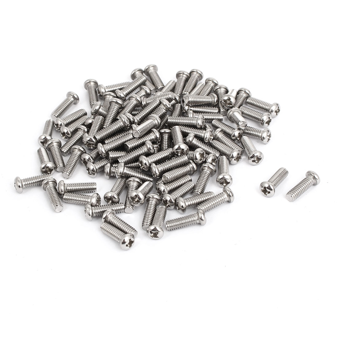 M4x12mm Stainless Steel Phillips Round Pan Head Machine Screws 100pcs