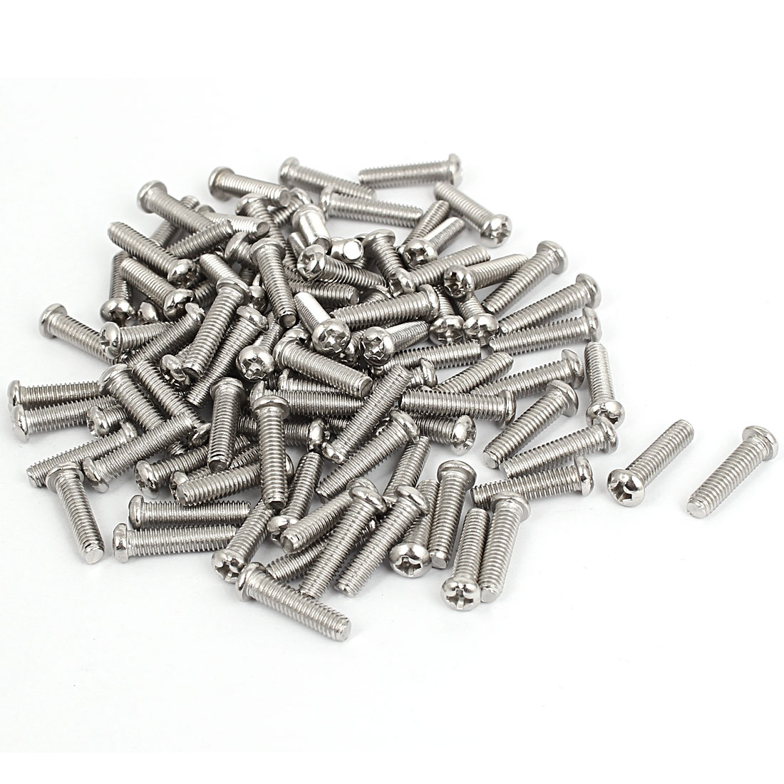 M4x16mm Stainless Steel Phillips Round Pan Head Machine Screws 100pcs