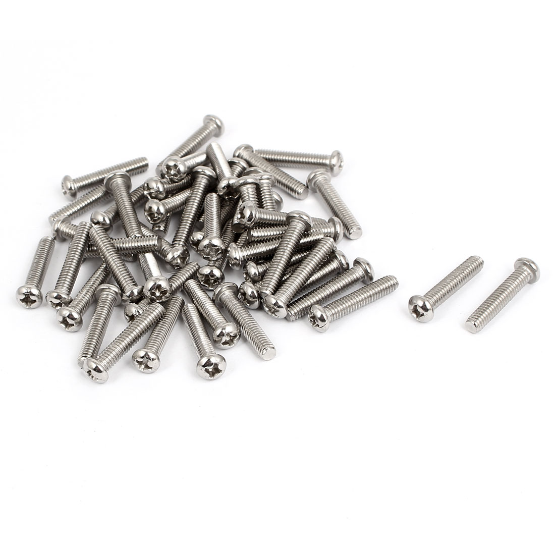M4x20mm Stainless Steel Phillips Round Pan Head Machine Screws 50pcs
