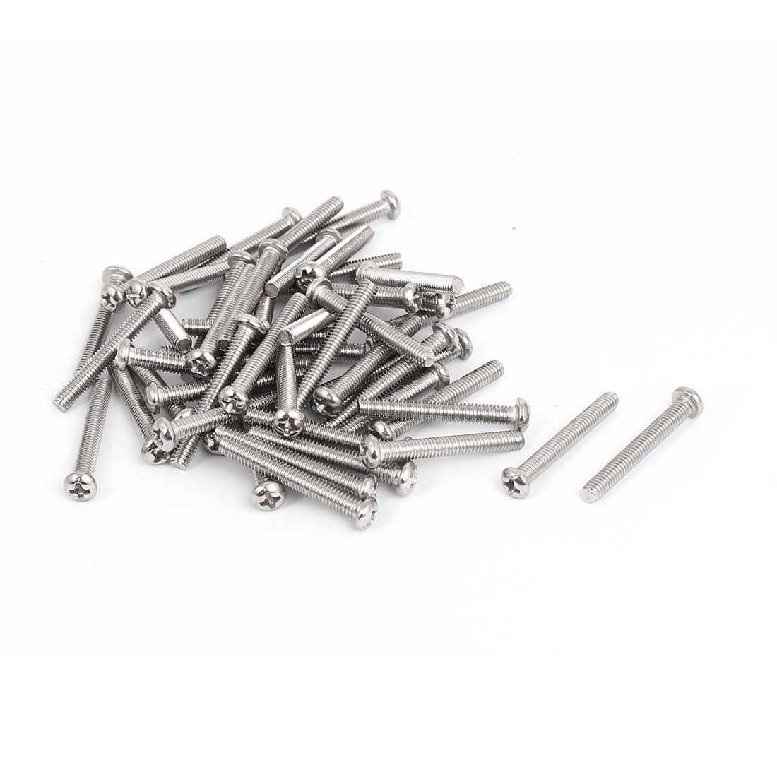 M4x30mm Stainless Steel Phillips Round Pan Head Machine Screws 50pcs