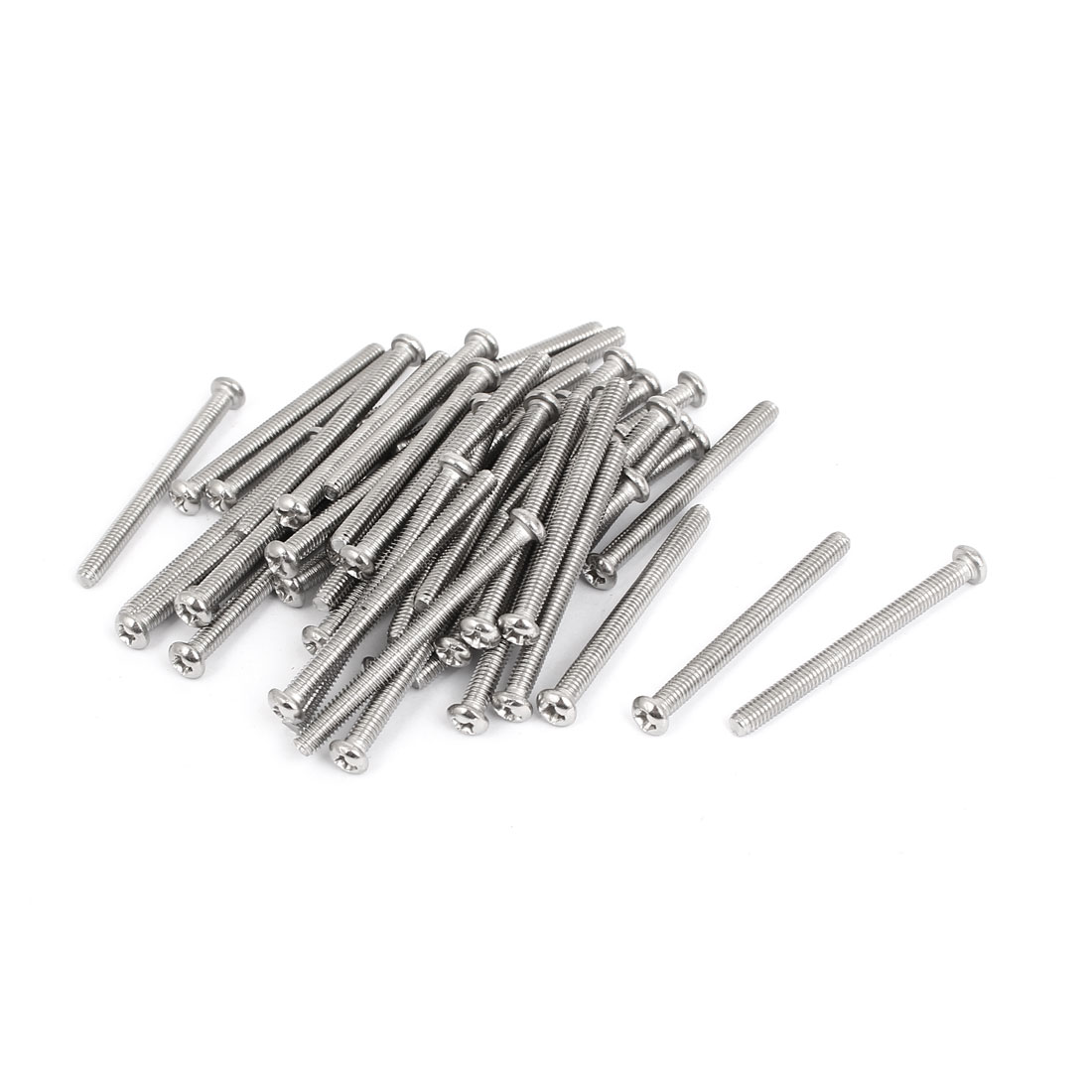 M4x45mm Stainless Steel Phillips Round Pan Head Machine Screws 50pcs