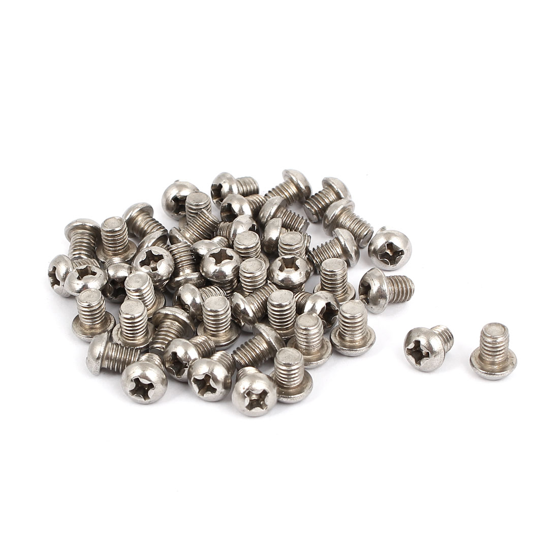 M5x6mm Stainless Steel Phillips Round Pan Head Machine Screws 50pcs