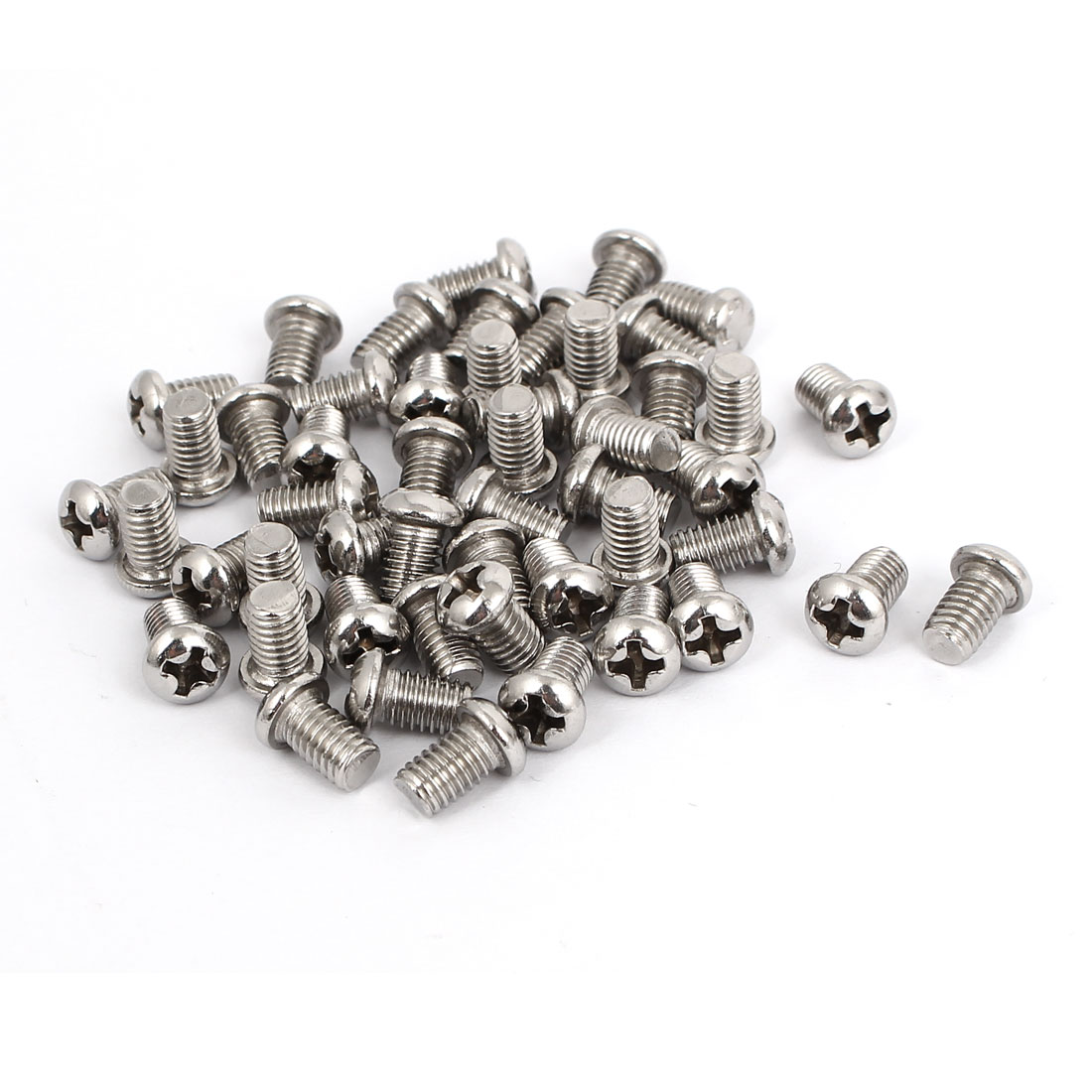 M5x8mm Stainless Steel Phillips Round Pan Head Machine Screws 50pcs