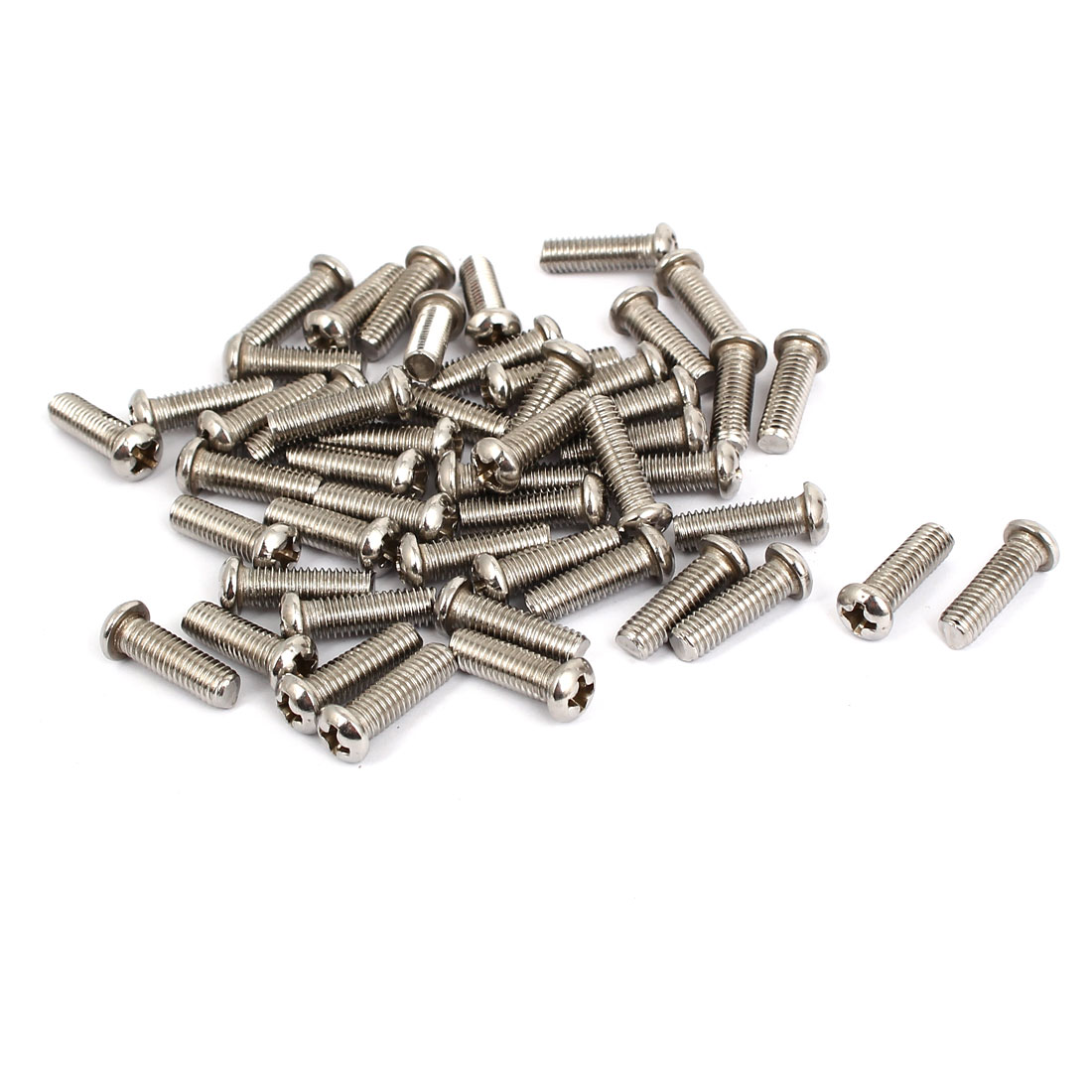 M5x16mm Stainless Steel Phillips Round Pan Head Machine Screws 50pcs