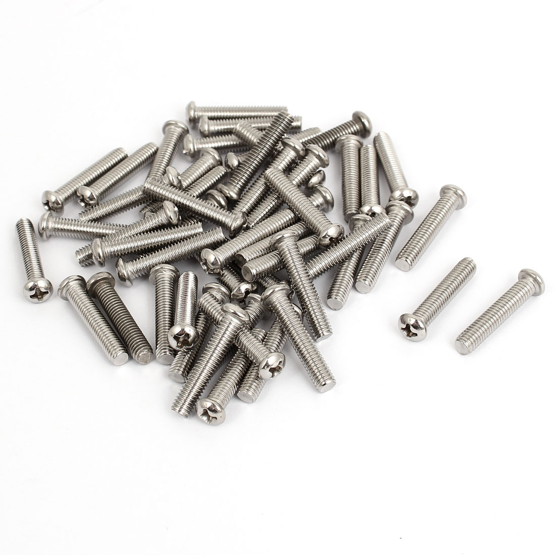 M5x25mm Stainless Steel Phillips Round Pan Head Machine Screws 50pcs