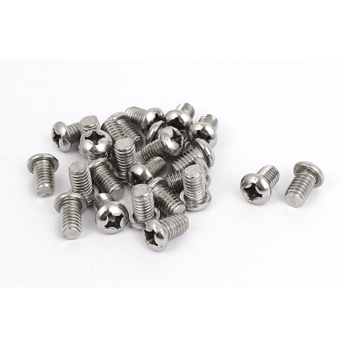 M6x10mm Stainless Steel Phillips Round Pan Head Machine Screws 25pcs